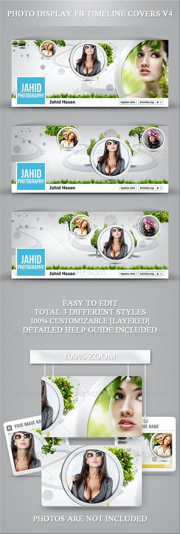 Photo Display FB Timeline Covers V4 - Facebook Timeline Covers Social Media