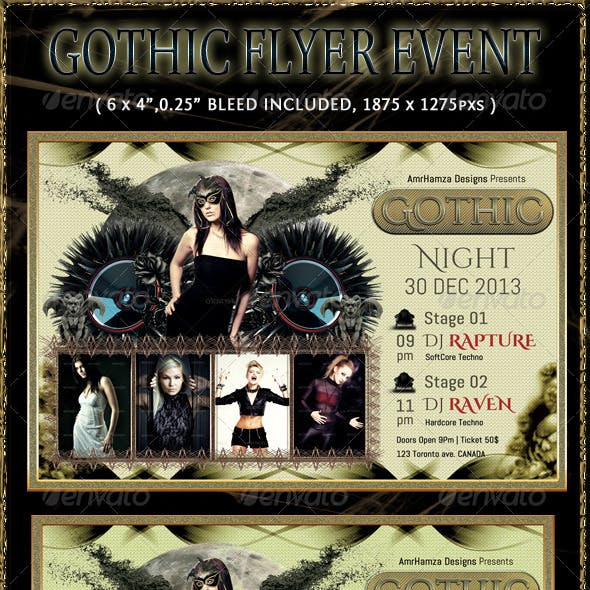 Dark Gothic Flyer Event Template