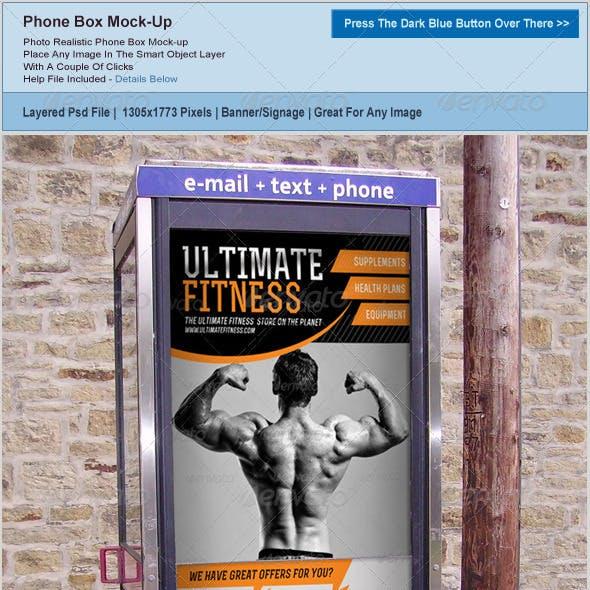Phone Box Banner Mockup