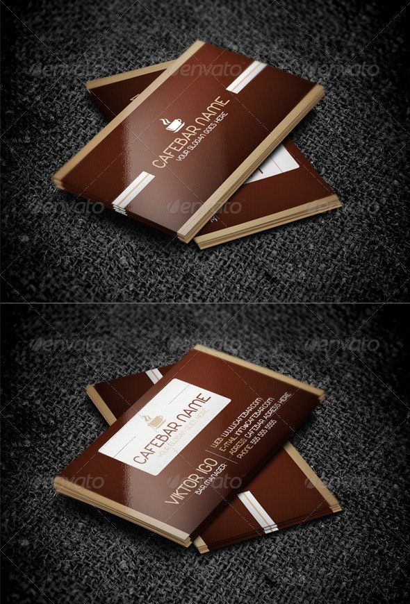 CafeBar Business Card - Industry Specific Business Cards