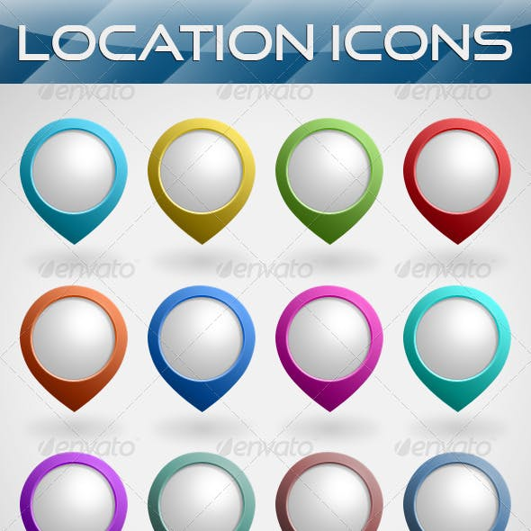 Location Map Icons