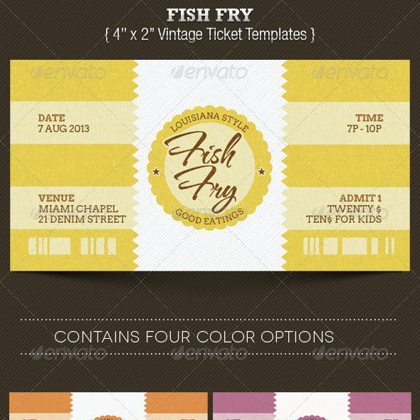 Fish Fry Ticket Template