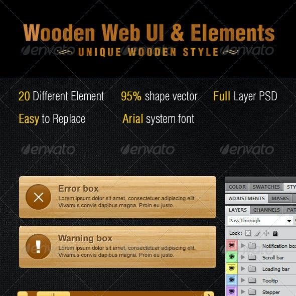 Wooden Web UI & Elements