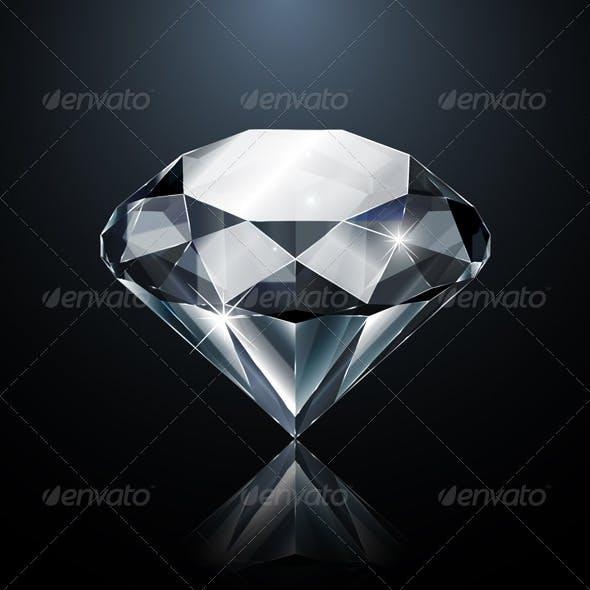 Dazzling Diamond on Black