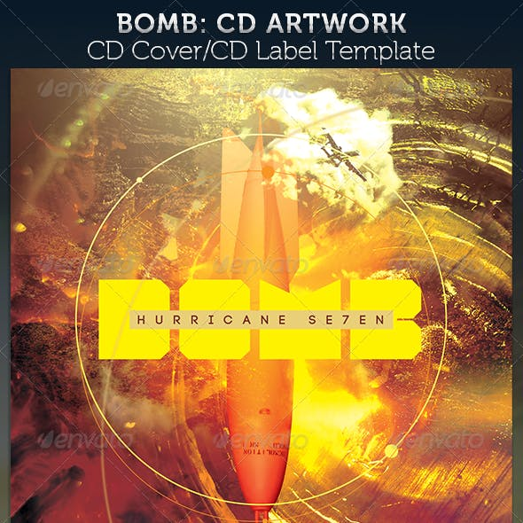 Bomb CD Cover Artwork Template