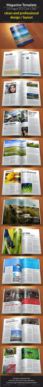 Magazine Template (23 Page) - Magazines Print Templates