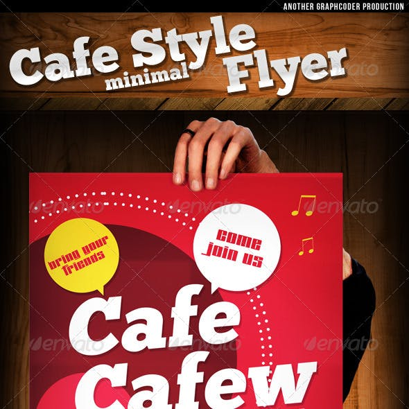 Cafe Style Minimal Flyer Template