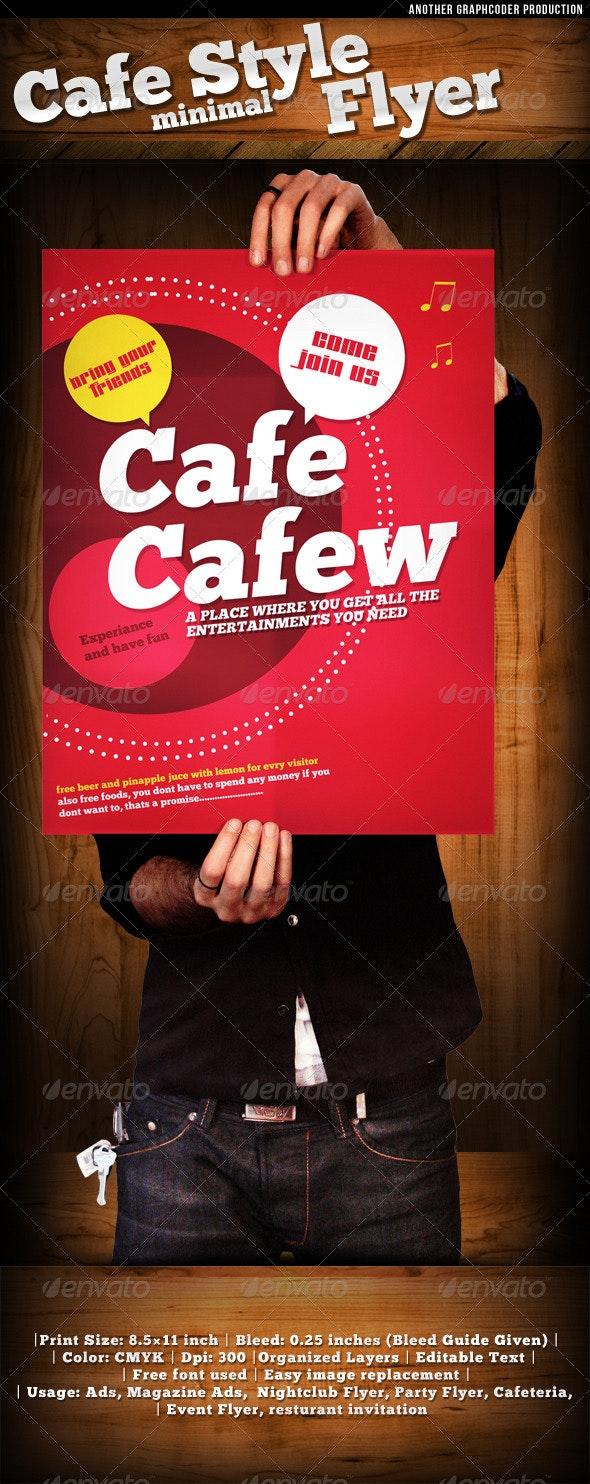 Cafe Style Minimal Flyer Template  - Restaurant Flyers