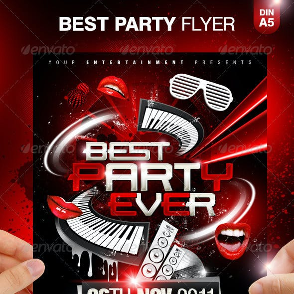Party Ever Party Flyer Template