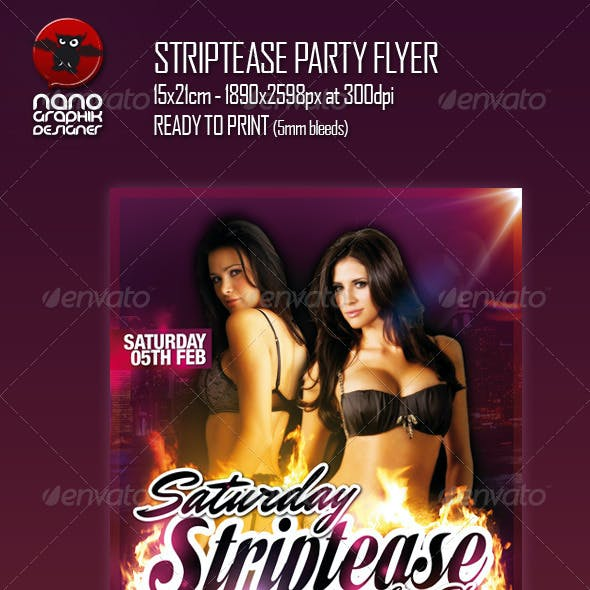 Striptease Party Flyer