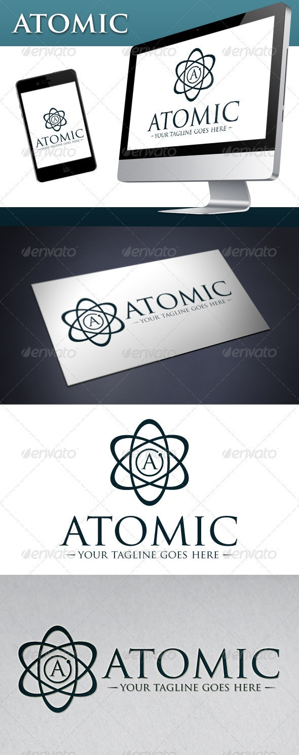 Atomic Logo Template - Letters Logo Templates