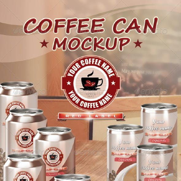 Coffee Can Mockup