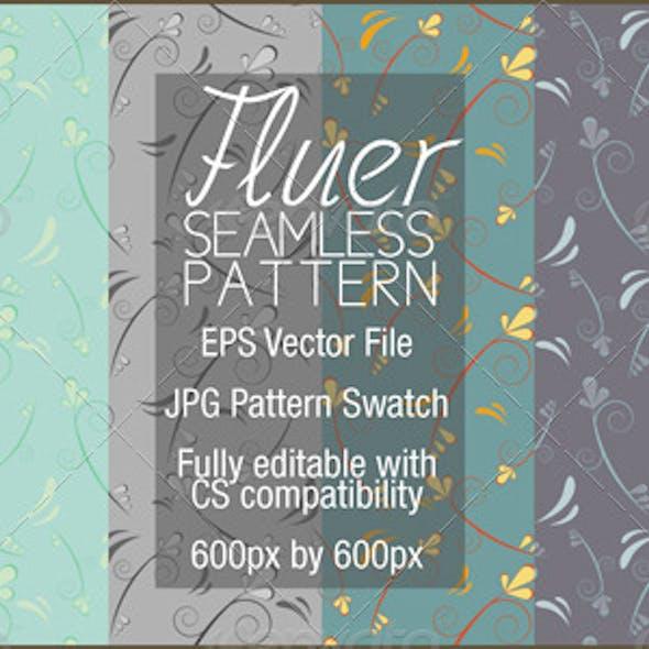 Fluer Seamless Flower Pattern