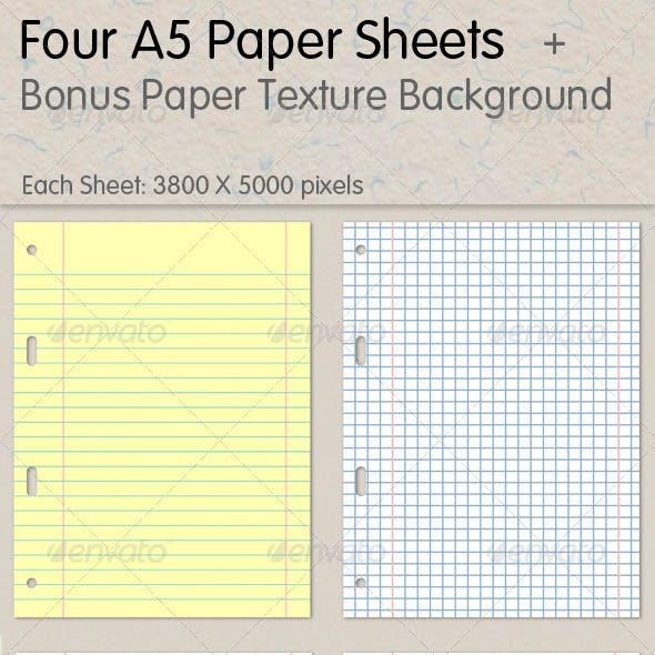 A5 Paper Sheets