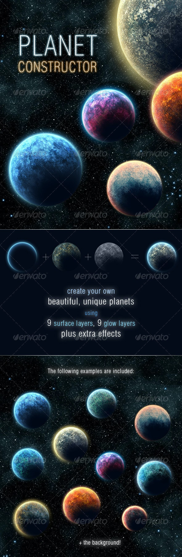Planet Constructor - Backgrounds Graphics