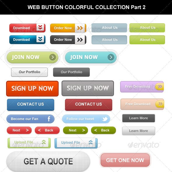 Web Button Colorful Collection Part 2