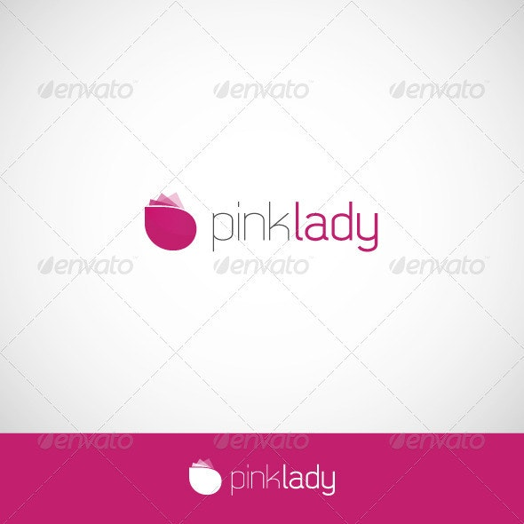 Pink Lady Logo - Nature Logo Templates