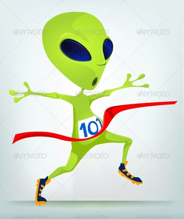 Cartoon Character Alien -  Finish - Monsters Characters