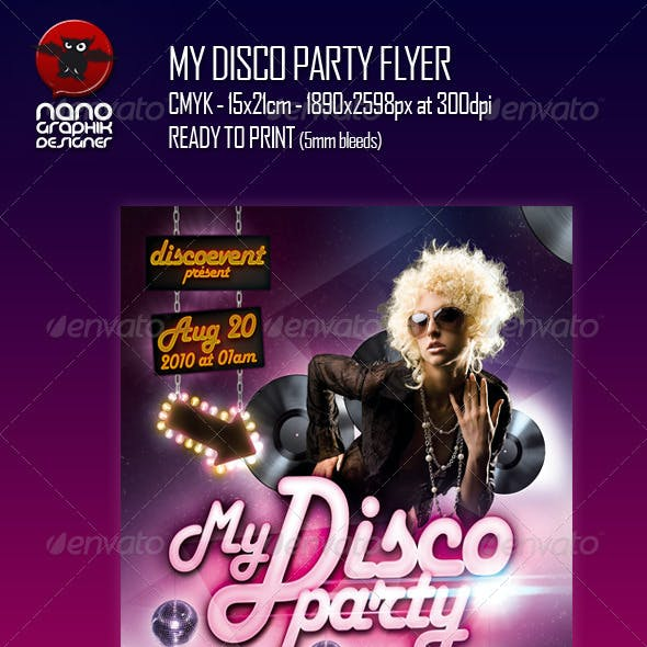 My Disco Party Flyer
