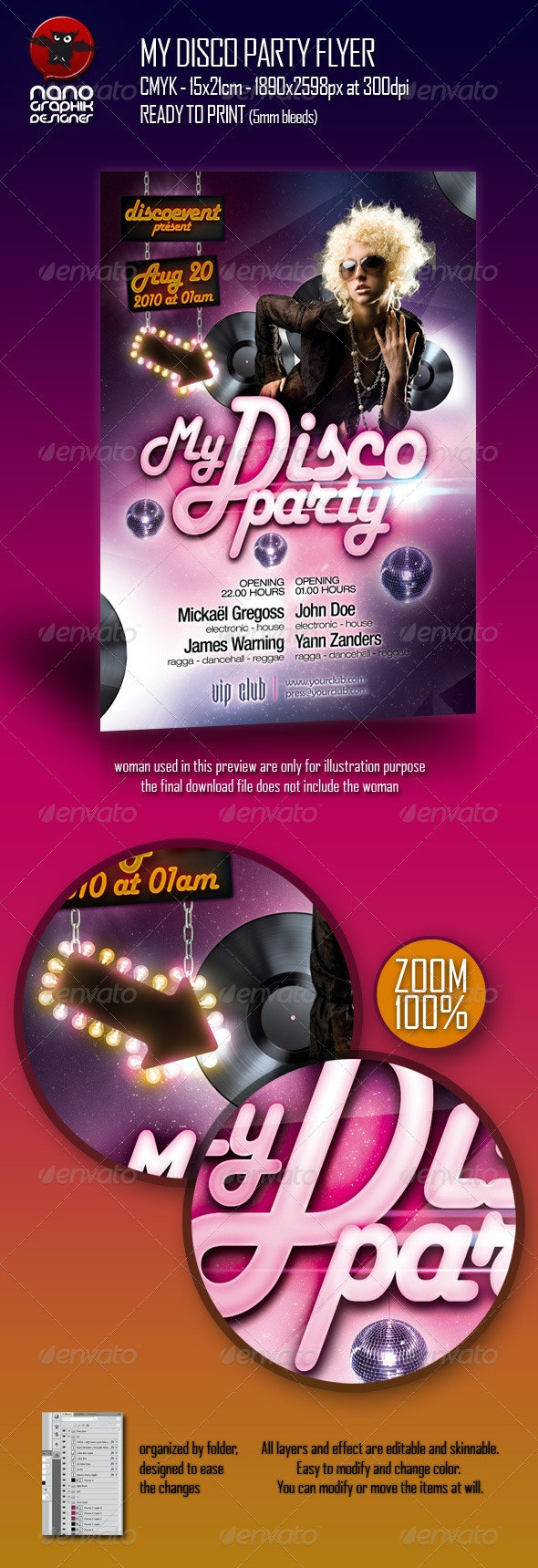 My Disco Party Flyer - Clubs & Parties Events