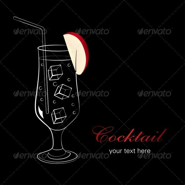 Cocktail With Apple - Food Objects
