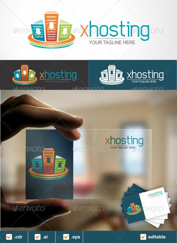 xhosting Logo - Objects Logo Templates