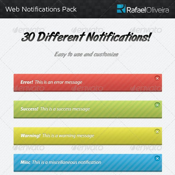 Web Notifications Pack