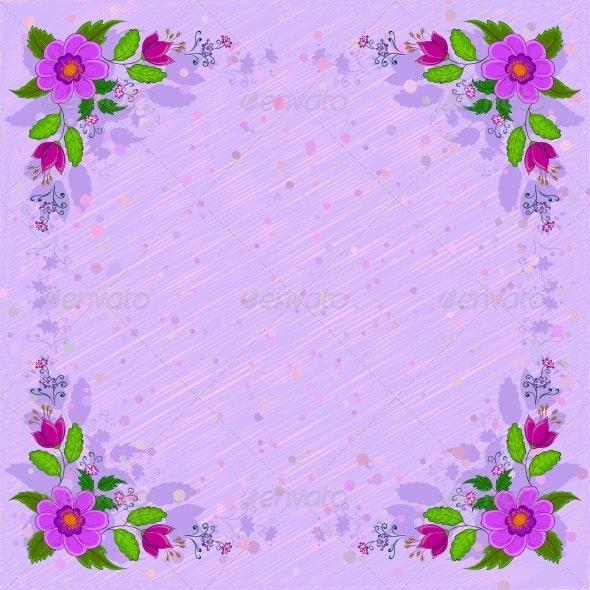Abstract Flower Background - Flourishes / Swirls Decorative