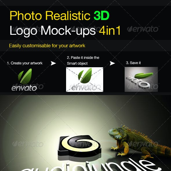 Photo Realistic 3D Logo Mock-up V.2