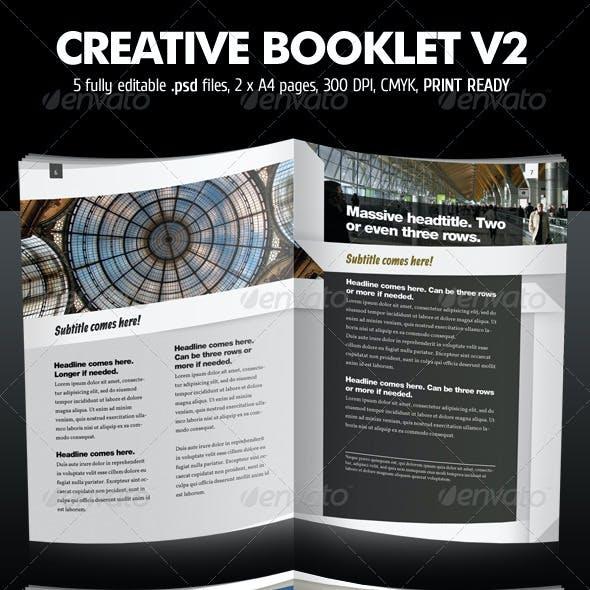 Creative Booklet / Brochure V2