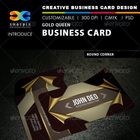 Gold Queen Business Card
