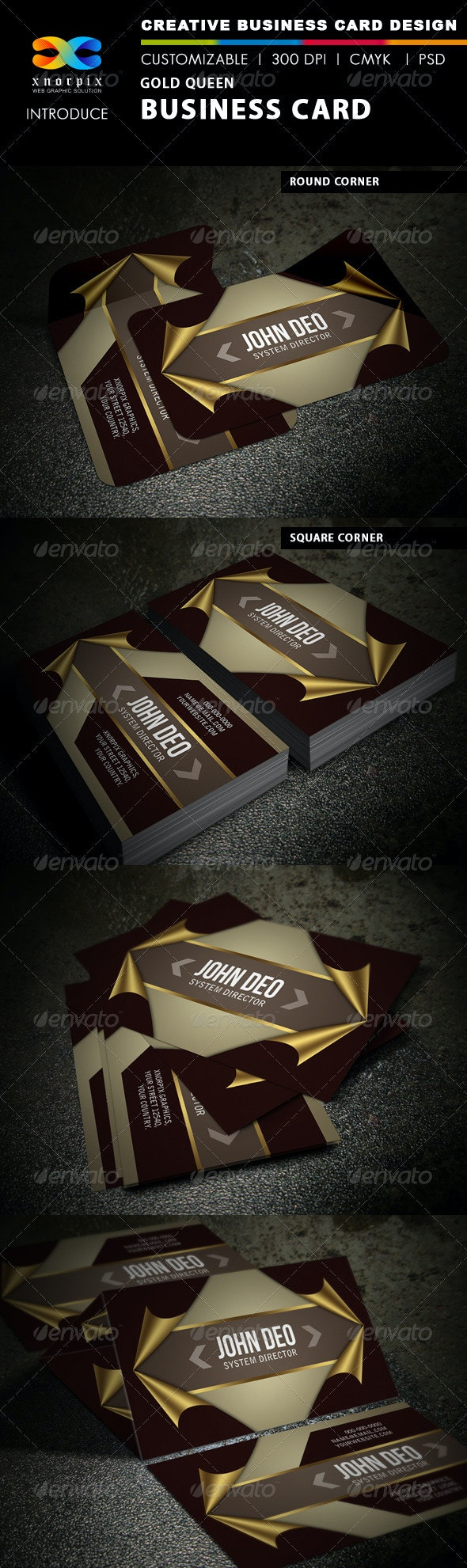 Gold Queen Business Card - Creative Business Cards