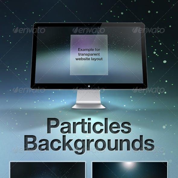 Particles Backgrounds + Texture