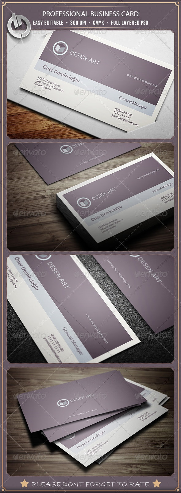 Professional  Business Card 10 - Corporate Business Cards