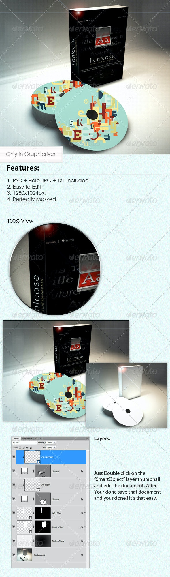 Software Box & CD Mockup - Discs Packaging