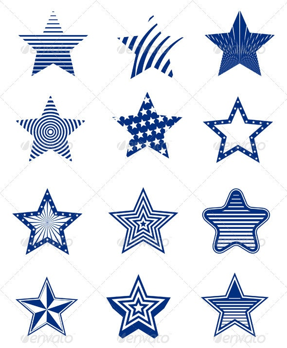 Star Designs Set - Decorative Symbols Decorative