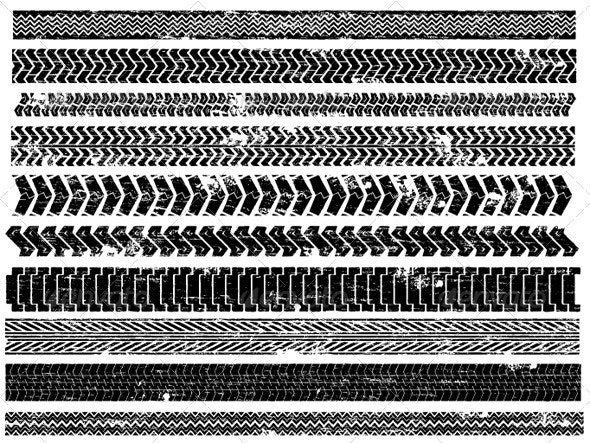 Tire Tracks - Patterns Decorative