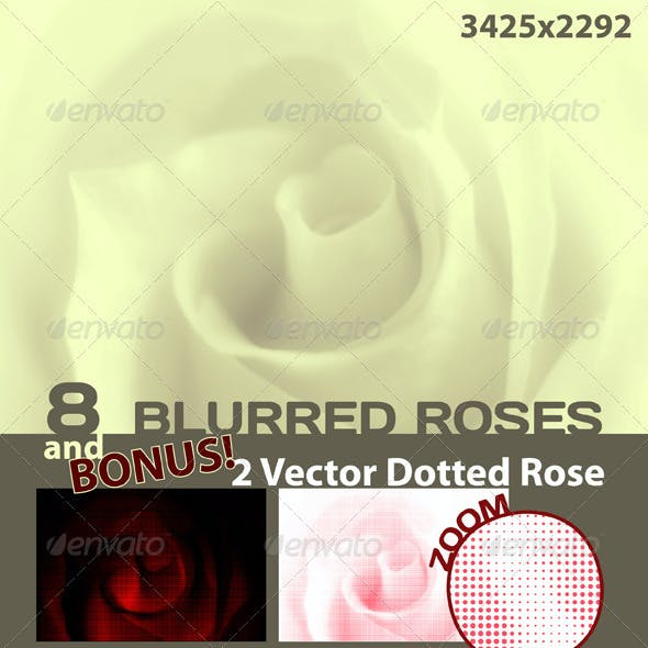 Pure background. Rose. Blurred and Dotted
