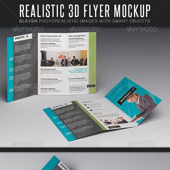 Realistic Flyer MockUp