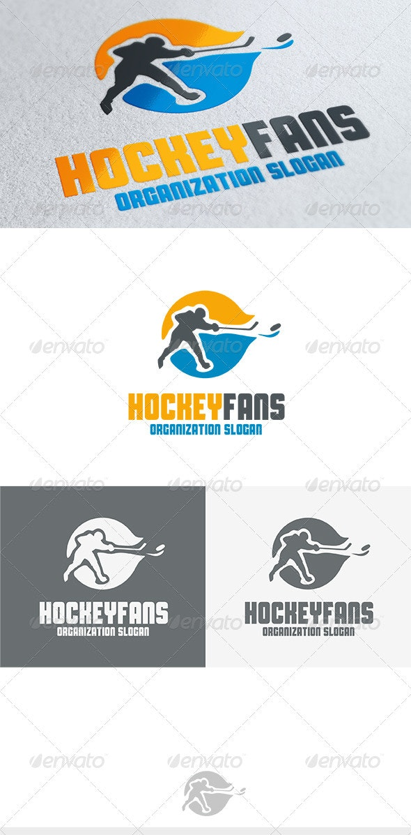 Hockey Fans Logo - Humans Logo Templates