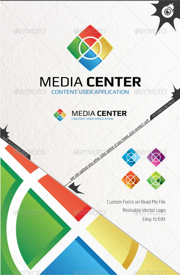 Media Center Logo - Vector Abstract
