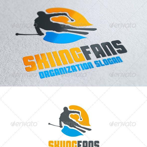 Skiing Fans Logo