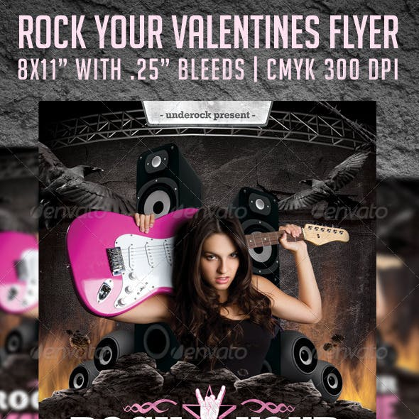 Rock Your Valentine Flyer Template