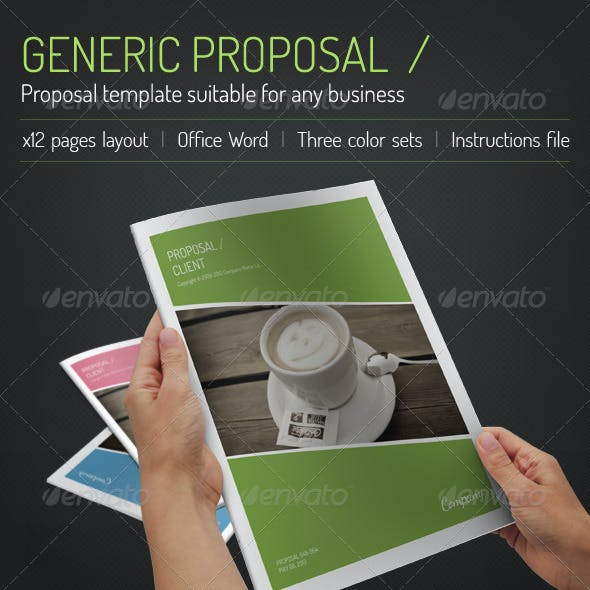 Generic Word Proposal Suitable For Any Business