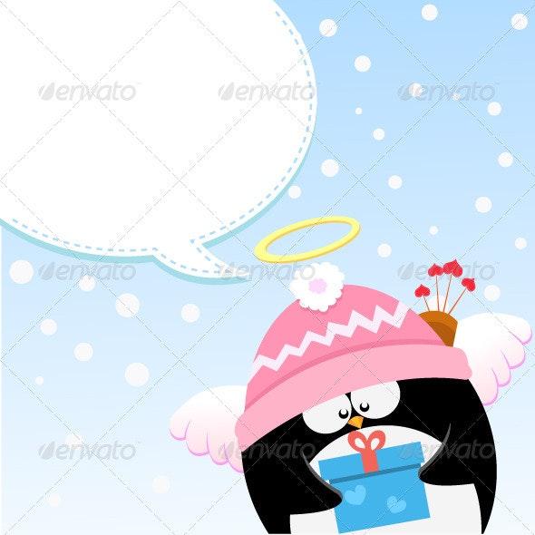 Cupid Penguin's Message - Valentines Seasons/Holidays