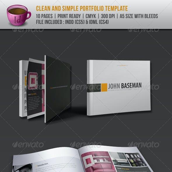 Clean And Simple Portfolio Template