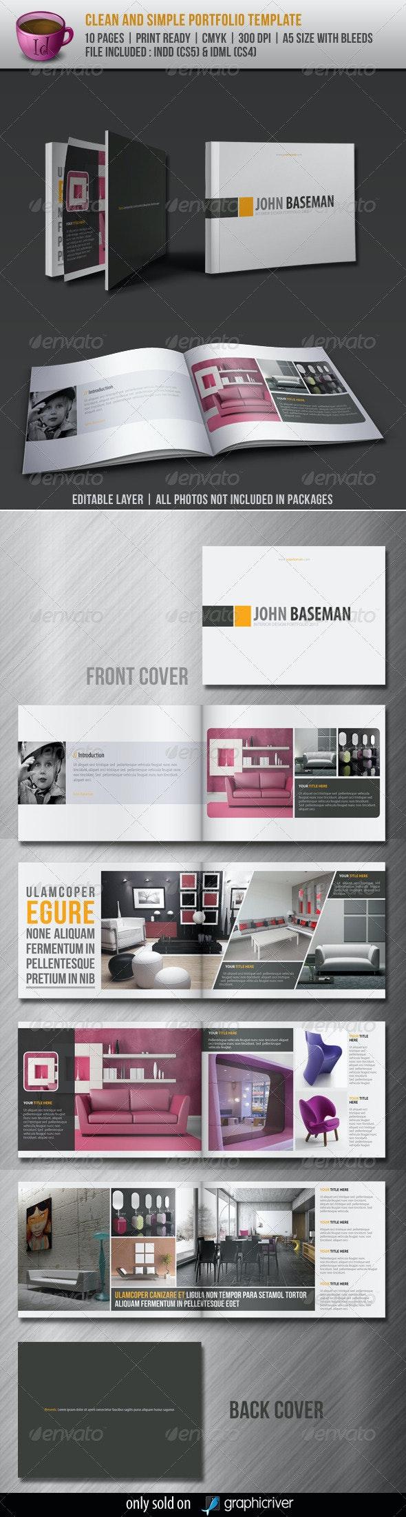 Clean And Simple Portfolio Template - Portfolio Brochures
