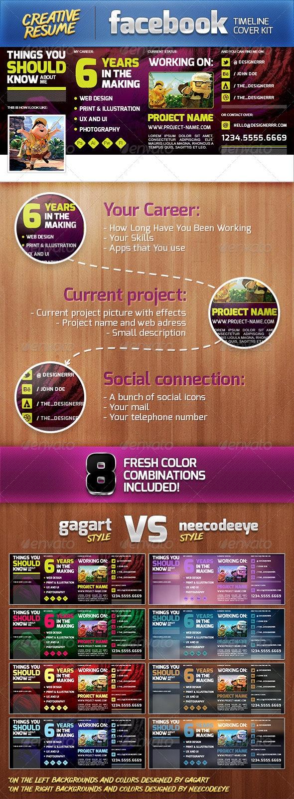 Creative Resume | FB Timeline Cover Kit - Facebook Timeline Covers Social Media