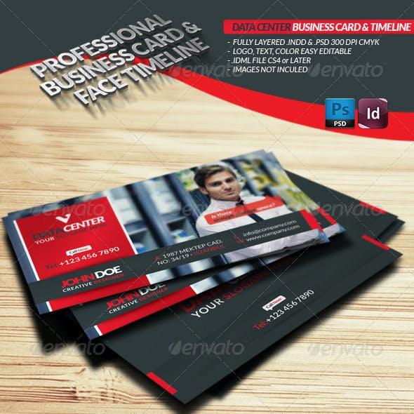 Data Center Business Card  Face-Timeline