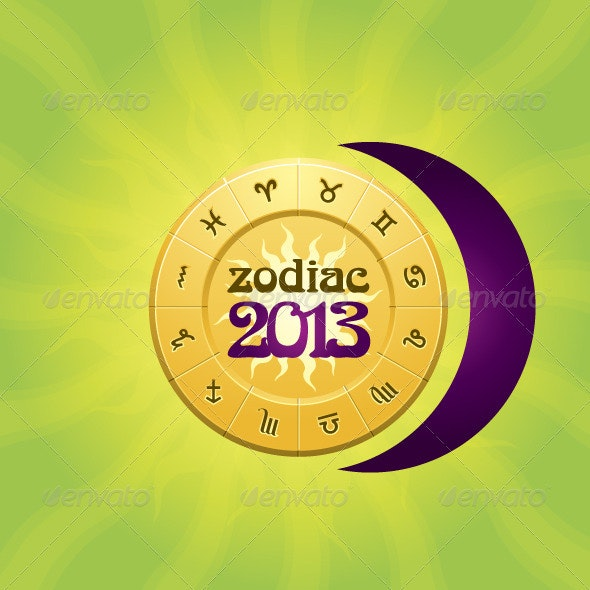 Zodiac 2013 Wheel - Decorative Symbols Decorative